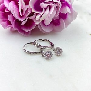 Dangling Cubic Zirconia Earrings